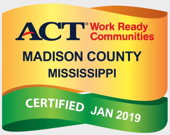 Madison County ACT Work Ready Community Badge